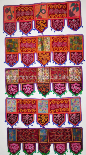 Indian Patchwork Ethnic Window & Door Topper Toran Valance Hangings