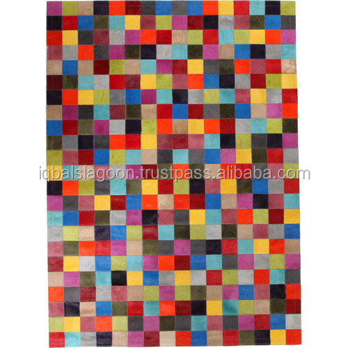 Multi Coloured Spanish Cowhide Rug