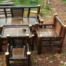 Indonesia bamboo furniture garden chairs & table set cheap price for sale