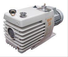 Double stage rotary vane vacuum pump for middle and high vacuum
