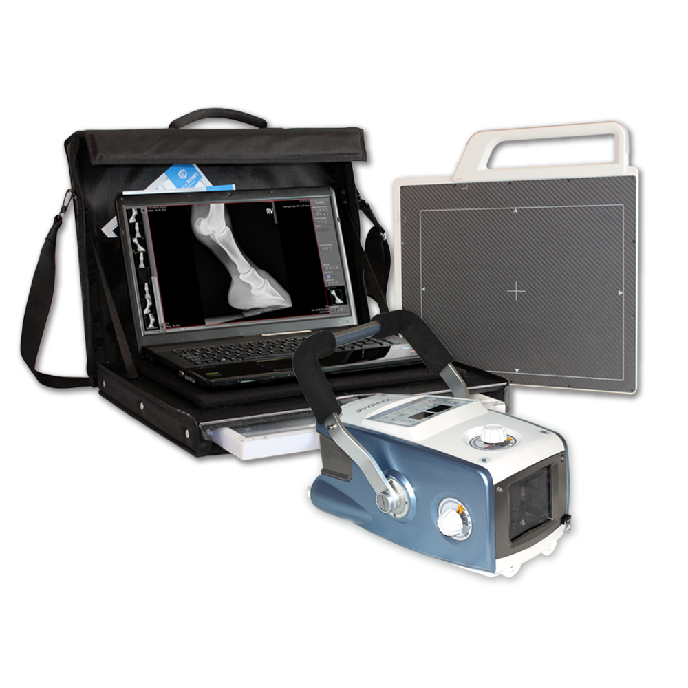 Portable Digital X-Ray Imaging Set meX+20BT 20 mA lite X-Ray machine + meX+1012WCA DR flat panel + Laptop / Notebook and Bag