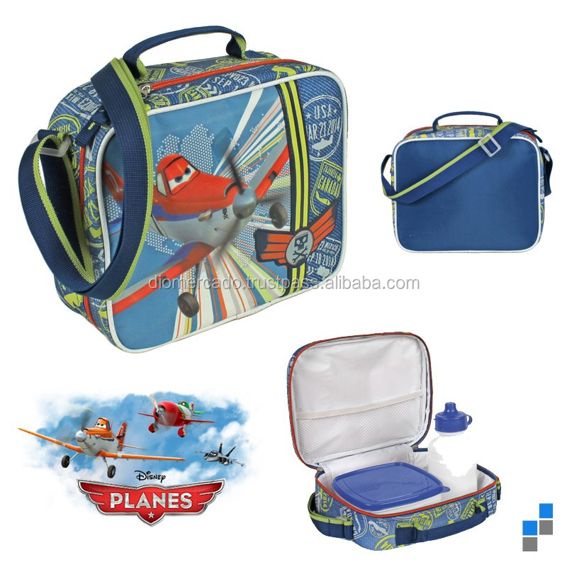Shoulder bag for kids, Planes with the drinking bottle and lunch box - Licensed for EU