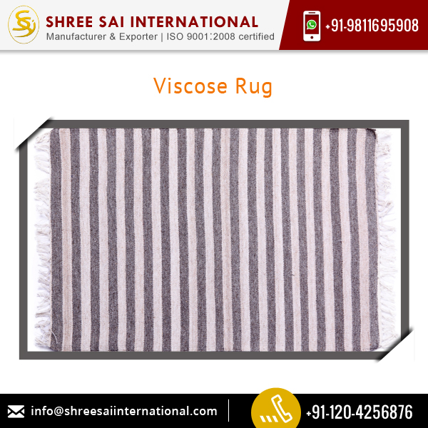 Attractive Price Innovative Design Tear Resistant Viscose Rug for Home/ Office