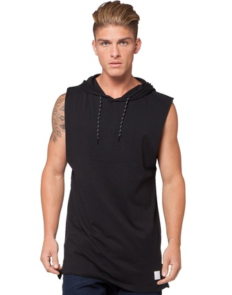 2017 New Brand Sleeveless Shirt Casual Fashion Hooded Tank Top Men Outwear bodybuilding Fit Slim Clothing