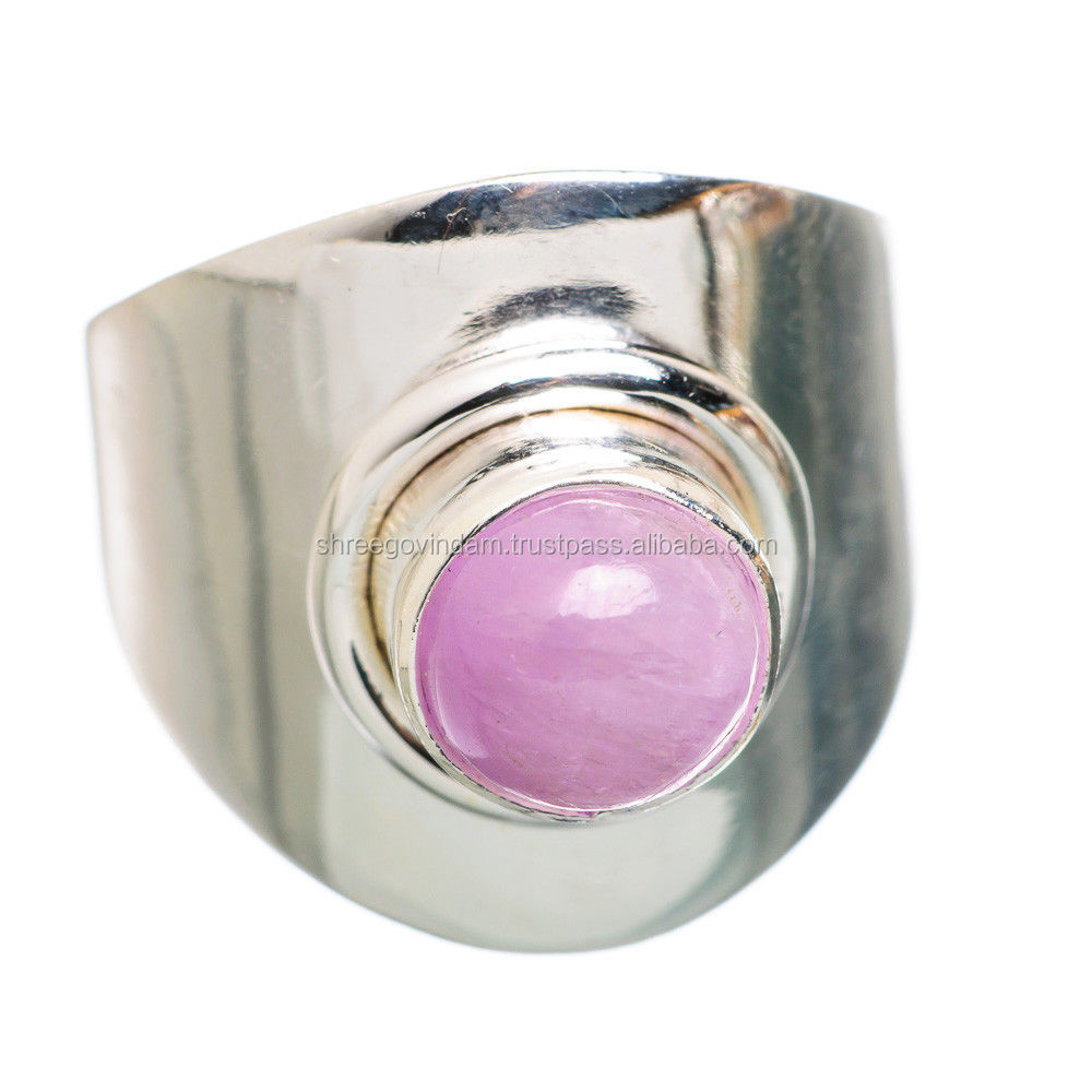 Magical Style !! 925 Sterling Silver Kunzite Ring
