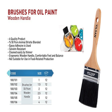 BRUSHES FOR OIL PAINT WOODEN HANDLE BRUSHAND ROLLER BRUSHES