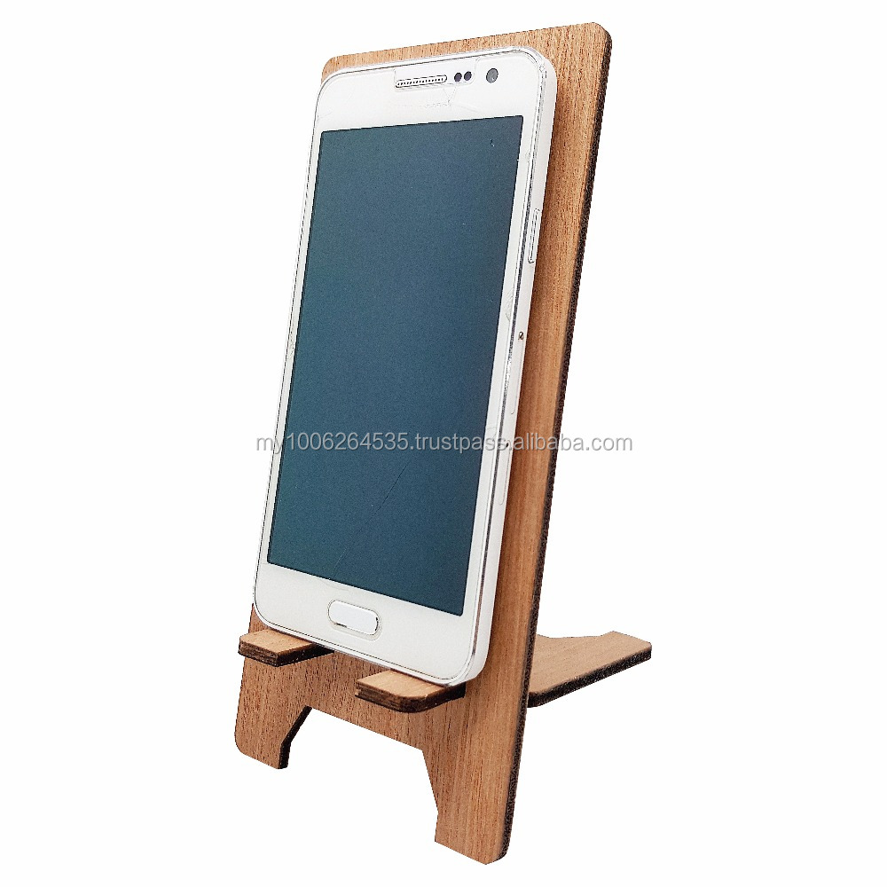 Wooden Laser Cut Mobile Phone Stand - Customisable Design