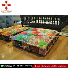 Wholesale Vintage Sari Patchwork Kantha Floor Cushion