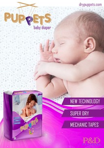 EUROPEAN STANDARDS PUPPETS BABY DIAPERS ARE AVAILABLE NOW FOR DISTRIBUTORSHIP FOR NEW COUNTRIES