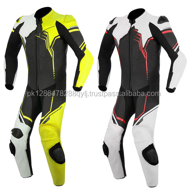 TO QUALITY CHEAP RATE MOTORBIKE MOTORCYCLE RACING GENUINE COWHIDE LEATHER SUIT WITH PROTECTIVE ARMORS