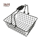 Children's Black metal 아이언 맨 (iron storage basket 부티크 mini small 쇼핑 basket
