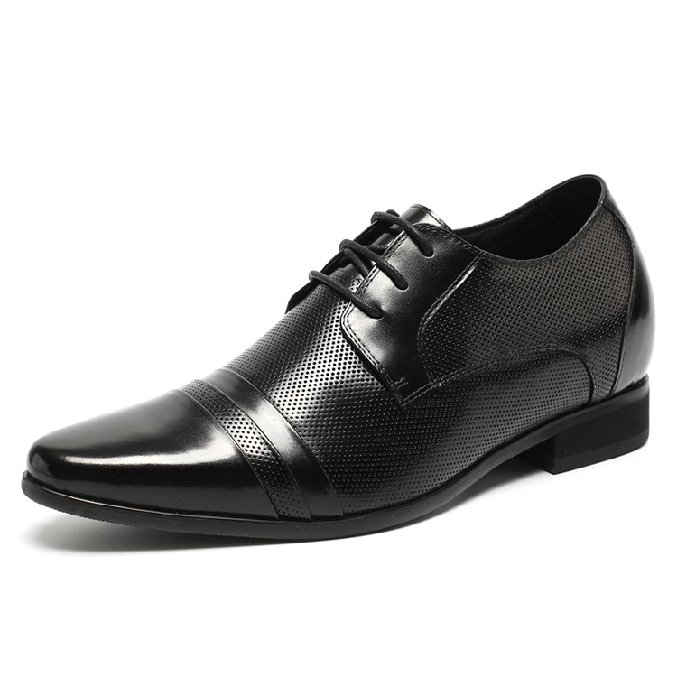 CF Fashion Genuine Leather Dress Shoes For Men With 7cm Height Hidden <strong>Heels</strong>