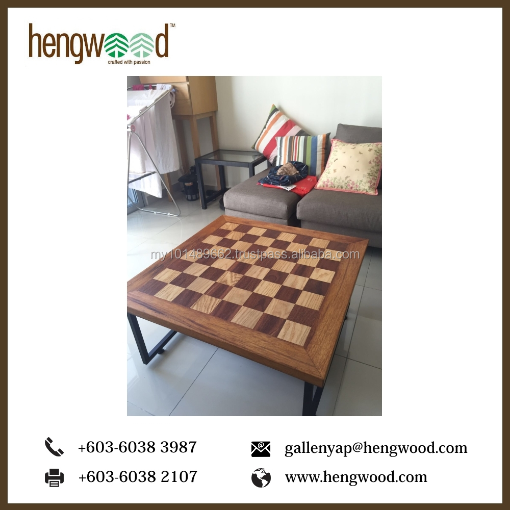 High Quality Wooden Chess Coffee Table Modern