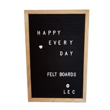 Low Price 12x18 Inches Oak Wood Frame Felt Letter Board with Plastic Letters