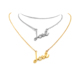 Customized Fashion Zinc Alloy Gold plated Love Jewelry with crystal Chain Pendant Gold Necklace Chain women necklace