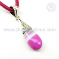 Beautiful pendant striped onyx gemstone 925 sterling silver pendants jewellery wholesale
