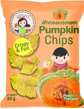 Dried fruit snack, pumpkin chips from Thailand