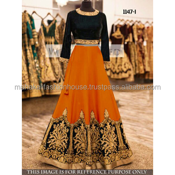 New Fashion Women Wear Embroidered Ethnic Designer Ghagra Choli Wholesale