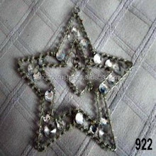 Iron Metal Wire Glass Beads Triple Star X-mas Hanging,Ornaments & Decorations for Christmas Tree