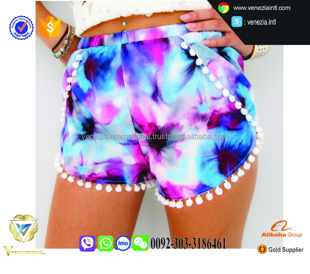 summer new style beach wear shorts for girls