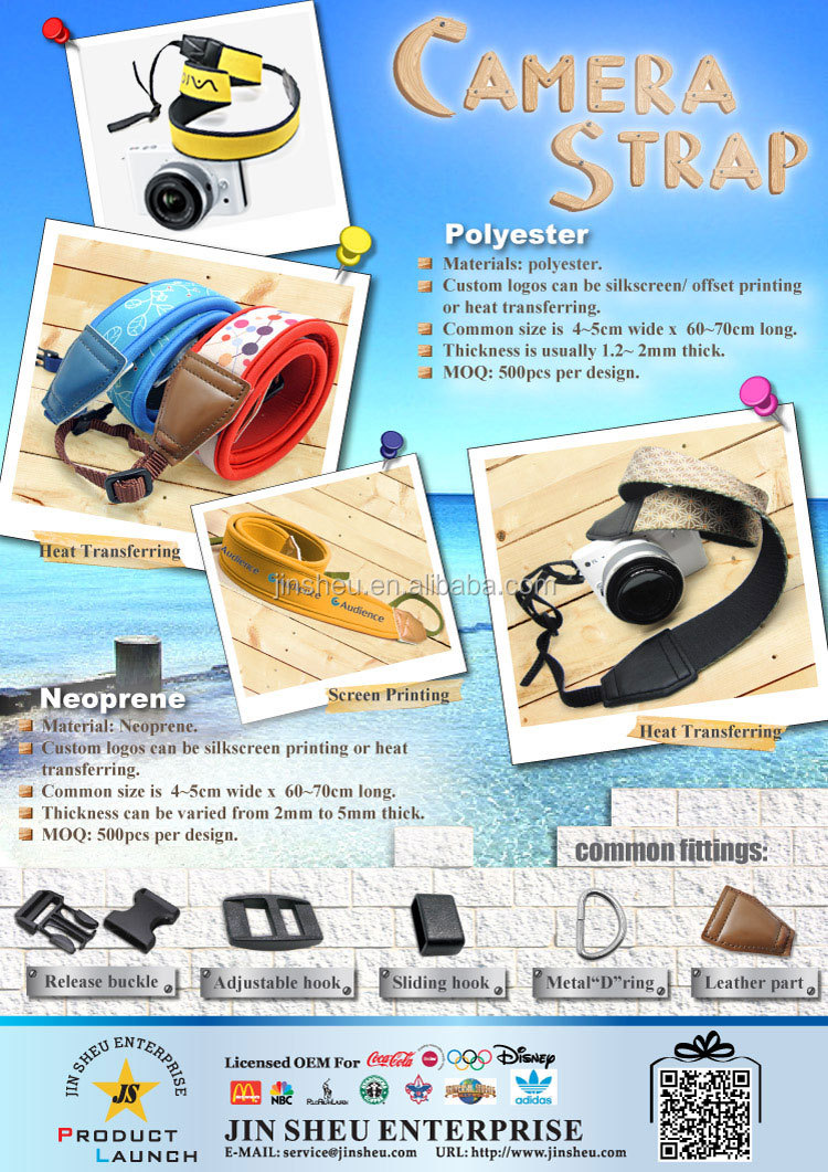 Photographer Fashion Items Custom Wholesale Camera Straps