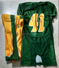 2018 Customized American Football Uniform jersey and pad shorts