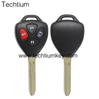 Brand New Car Replacement 3+1 Button flip Remote Key Shell for Toyota master key