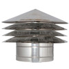Louver , End Piece Terminal Cap , Stainless Steel , Fittings for all Products , Single Wall , Double Wall , Concentric Wall