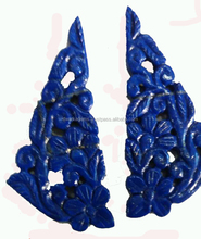 2017 high quality natural lapis lazuli carved loose gemstone