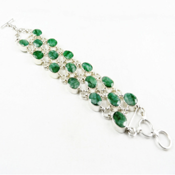 High quality emerald bracelet 925 sterling silver jewelry wholesale bracelets indian jewelry