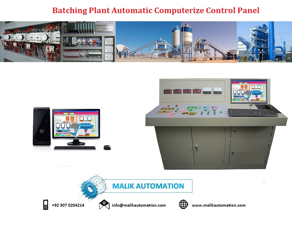 Computerize Asphalt Mixer Plant control panel
