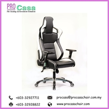 High Back Computer / Video Racing PRO G-EU-W Pc Gaming Office Chair Made In Malaysia