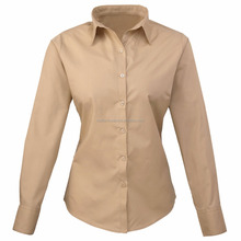 Ladies dress shirt in Camel Colour