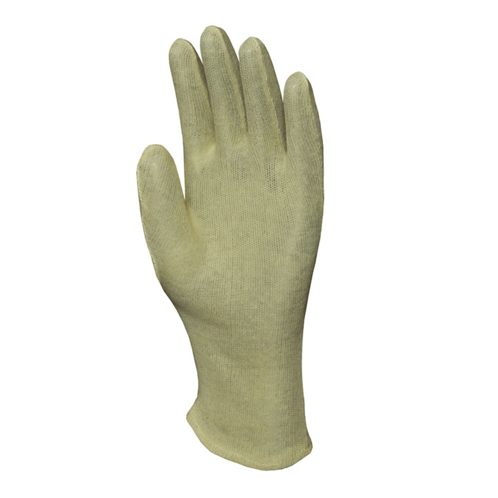 Cotton Hotmill Gloves/ 100% Cotton Interlock White Fourchette