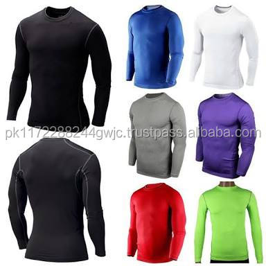 OEM custom long line men sports Tight fitted t-shirt gym wear/Wholesale Custom Gym Sports supreme quality long sleeve t shirts