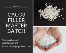 CACO3 Filler masterbatch raw materials PE/LLDPE/HDPE granules, pellets for PE plastic