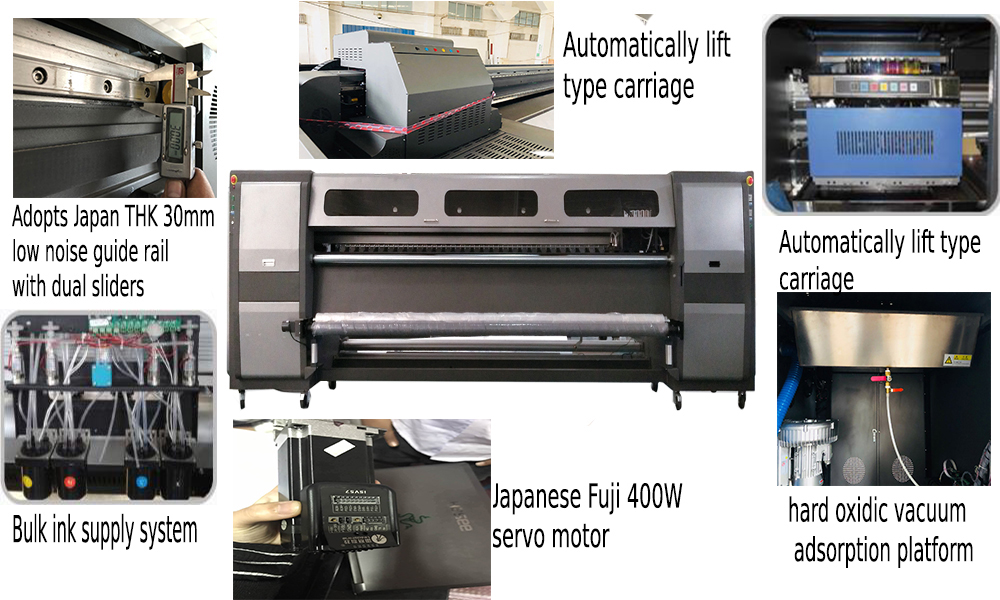 high speed 3.2 m width large format solvent printer KM512i/gen5/spt510 print head large format digital printing