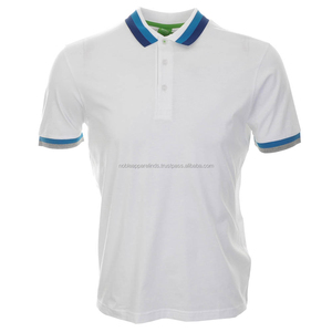 Mens 100% Cotton Pique New Style Polo Shirt color white and nice sttich for men/women