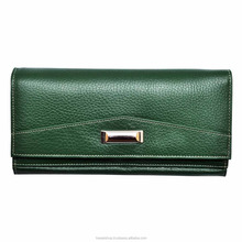 Handmade Genuine Leather Ladies Purse Women Casual Green Clutch Made In India