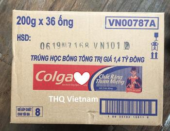 [THQ VIETNAM] Colgatee strong teeth toothpaste 200 gram x 36 tubes