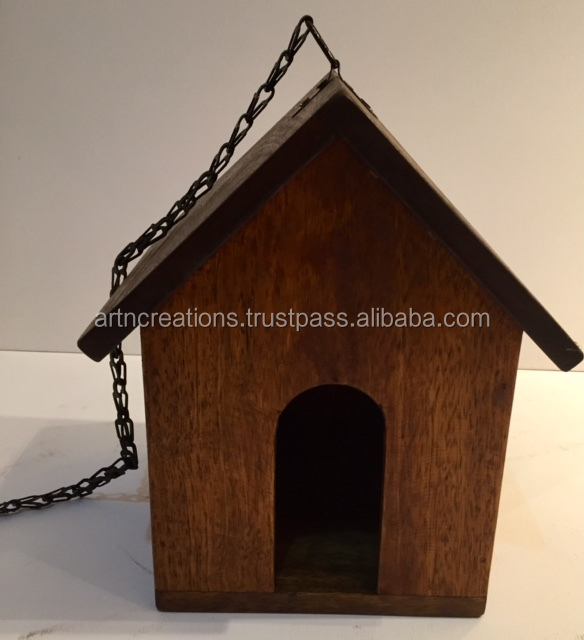 Antique Indian Polished Wooden Bird house