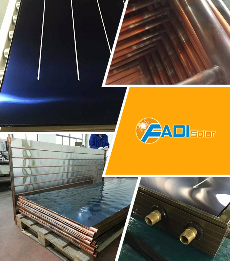 150/300L Stainless Steel Type Flat Panel Solar Water Heater - HIgh Pressure Model CE/ISO.