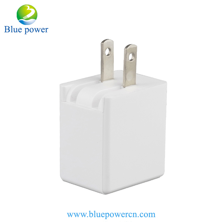 Amazon Top Selling Dual USB 2.1A Home Wall Charger Adapter Folding US Plug Mobile Phone Wireless Charger for iphone