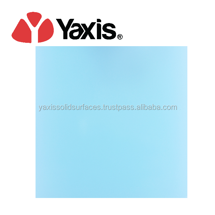 Manufacturing price premium quality Yaxis artificial stone solid surface table top made in Malaysia