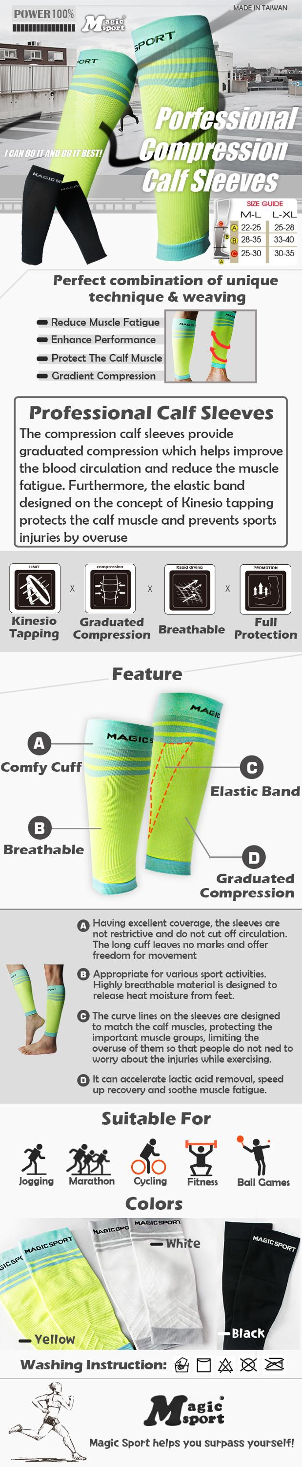 Hot sale New Professional Compression Calf Sleeves