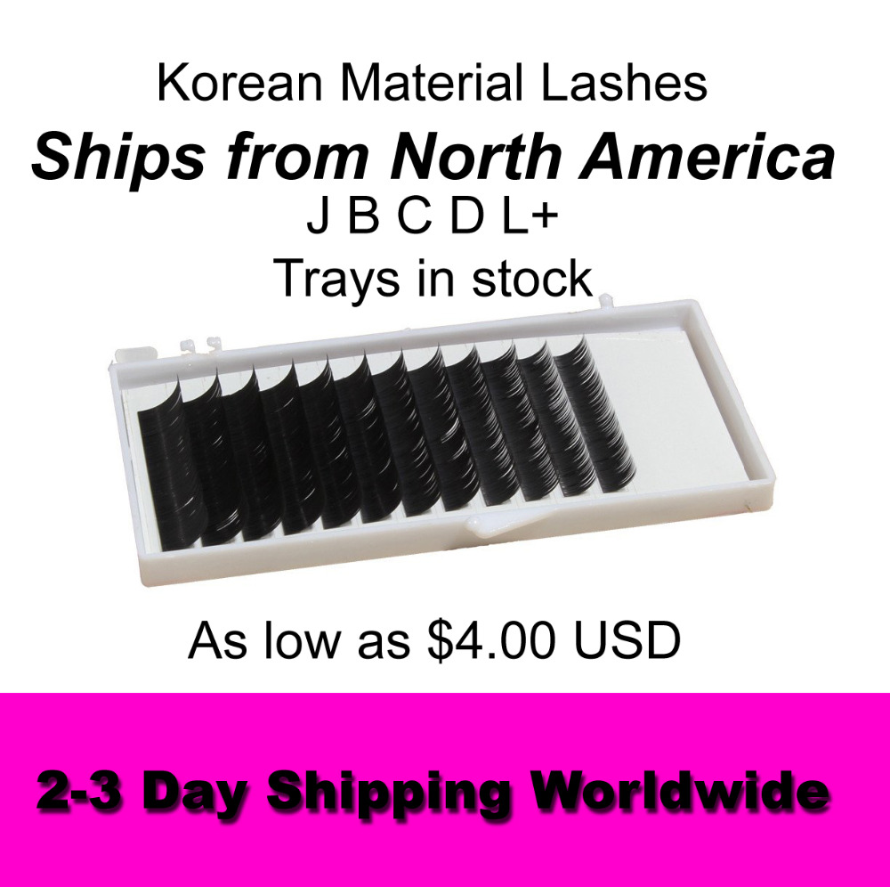 Premium Eyelash Extension J B C D L+ Low Price SHIPS FROM NORTH AMERICA-IN STOCK