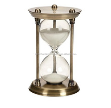 Decorative 79 Metal Glass Quarter Hourglass with 15 Minutes Send Time CHST15058