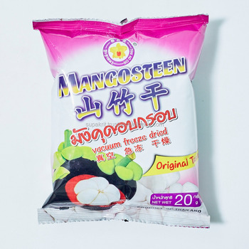 Freeze dried Mangosteen 20 g fruit snack from Thai Ao Chi Fruits