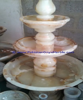 HAND CARVED ONYX FOUNTAINS