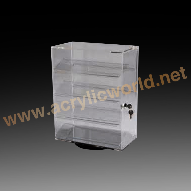 acrylic jewelry display stand with lock